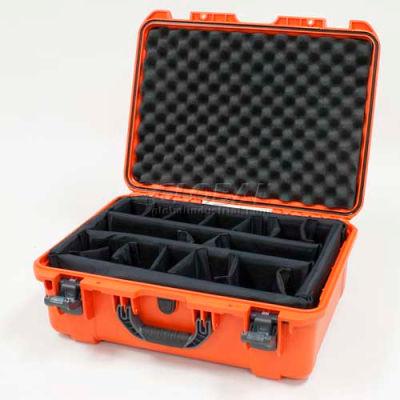 "Nanuk 940 Case w/Padded Divider, 21-11/16""L x 16-7/8""W x 8-1/2""H, Orange"