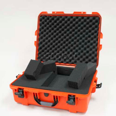 """Nanuk 945 Case w/Foam, 25-1/8""""L x 19-7/8""""W x 8-13/16""""H, Orange"""