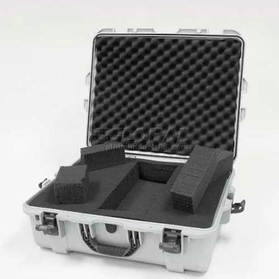 """Nanuk 945 Case w/Foam, 25-1/8""""L x 19-7/8""""W x 8-13/16""""H, Silver"""