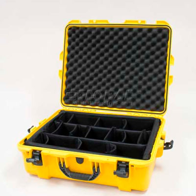"Nanuk 945 Case w/Padded Divider, 25-1/8""L x 19-7/8""W x 8-13/16""H, Yellow"