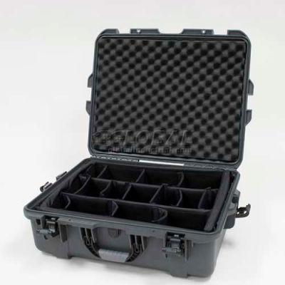 "Nanuk 945 Case w/Padded Divider, 25-1/8""L x 19-7/8""W x 8-13/16""H, Graphite"