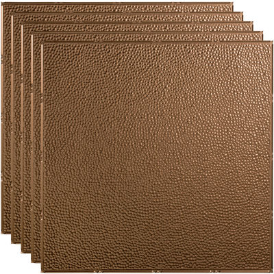 """Fasade Border Fill - 23-3/4"""" x 23-3/4"""" PVC Lay In Tile in Argent Bronze - PL5928"""
