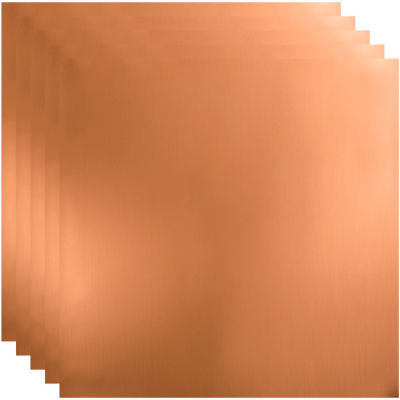 """Fasade Flat - 23-3/4"""" x 23-3/4"""" PVC Lay In Tile in Polished Copper - PL6925"""