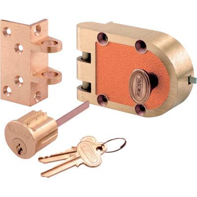 Primeline Products SE 15316 Bronze Deadlock, 666A, Single Cylinder, Angle Strke, Brs Box