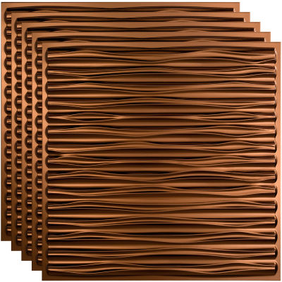 """Fasade Dunes - 23-3/4"""" x 23-3/4"""" PVC Lay In Tile in Oil Rubbed Bronze - PL7526"""