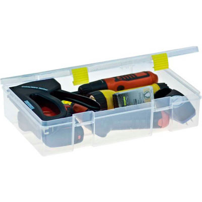 "Plano ProLatch™ StowAway® Utility Box Open Compartment 14""L x 9-1/8""W x 3-1/4""H Clear - Pkg Qty 3"