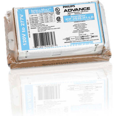 Philips Advance ICF2S18H1LDK Electronic CFL Ballast, 120-277V, 1 or 2- 18 Watts