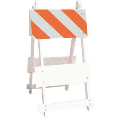 101-T12-EG All Plastic Maintenance Free Type I Traffic Barricade, White, Foldable