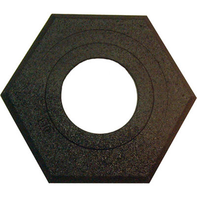 Plasticade 10 Lb. Recycled Rubber Base For Watchtower And Navicade Cones, Black, Hexagon Shape