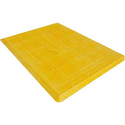 "Plasticade CSP-TC35-Y 35"" Trench Cover, Made Of Fiberglass Composite, Yellow, 4410 Lbs. Capacity"
