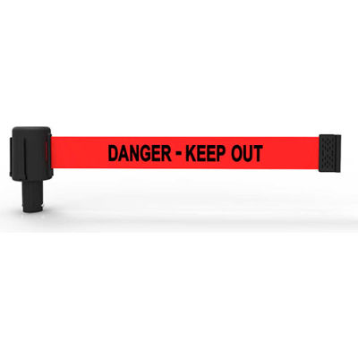 """Banner Stakes PL4114 - PLUS Wall Mount Set, Red """"Danger - Keep Out"""" Banner"""