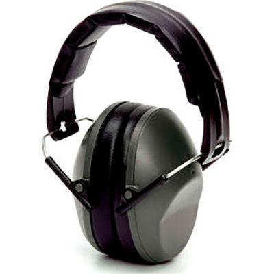 Pyramex® Low Profile Earmuff, Fold-Away, NRR 22dB, Gray, Each