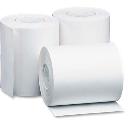 "PM Company® Single-Ply Thermal Cash Register/POS Rolls 05227, 4-3/8""x127', White, 50 Rolls/Ctn"