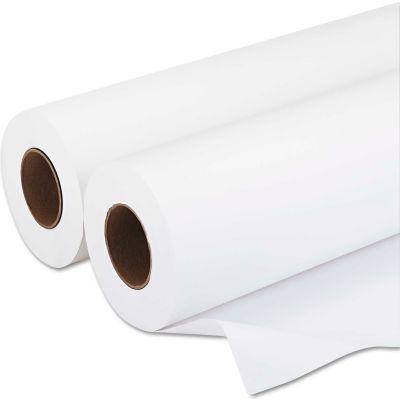 "PM Company® Wide-Format Rolls 09136, 36"" x 500', White, 2/Carton"