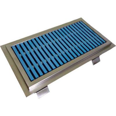 IMC Anti-Splash Floor Trough ASFT-1254-PFG-ADA with ADA Fiberglass Grating & 1 Center Drain