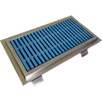 IMC Anti-Splash Floor Trough ASFT-2436-PFG-ADA with ADA Fiberglass Grating & 1 Center Drain