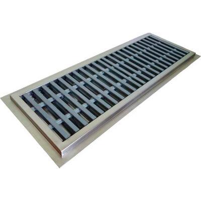 "IMC Floor Trough CFT-12120-PFG 12""W x 120""L x 4""D with Fiberglass Grating & 1 Center Drain"