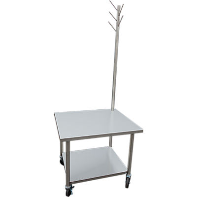 IMC SMTT-3636 Mixer Table with Tool Tree, Undershelf & Casters 36x36x30