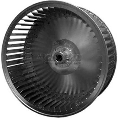 "Single Inlet Blower Wheel, 7-7/16"" Dia., CCW, 1650 RPM, 1/2"" Bore, 3-1/4""W, Galvanized"