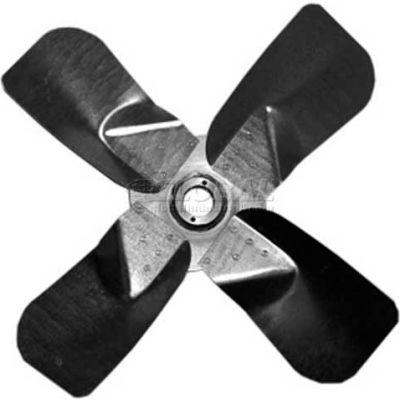 """Heavy Duty Four Wing Fan Blade, Galvanized Steel Props, 24"""" Dia.,CW, 27° Pitch"""