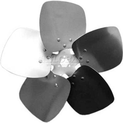 "Five Wing Condenser Fan Blade, Interchangeable Hub, Aluminum, CW, 14"" Dia., 27° Pitch"