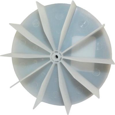"Small Plastic Push-On Fan Blade, 4-5/8"" Dia., CCW or CW, 7/32"" Bore, 1"" Blade Depth, Wheel Blade"