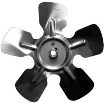 "Small Fixed Hub Fan Blade, 9"" Dia., 26° Pitch, CW, 1/4"" Bore, 1-1/4"" Blade Depth, 5 Blade"