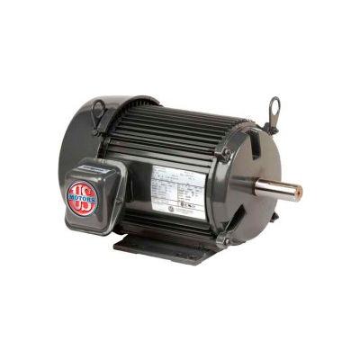 US Motors Unimount® TEFC, 10 HP, 3-Phase, 3520 RPM Motor, U10P1H