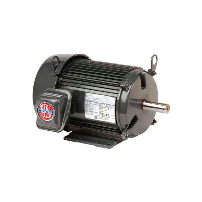 US Motors Unimount® TEFC, 3 HP, 3-Phase, 3525 RPM Motor, U3P1G