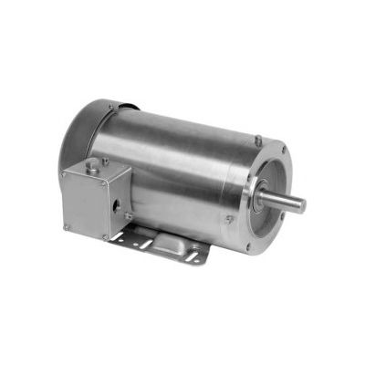 US Motors Washdown, 3 Phase, 0.5 HP, 3-Phase, 1755 RPM Motor, WDS12S2AHC