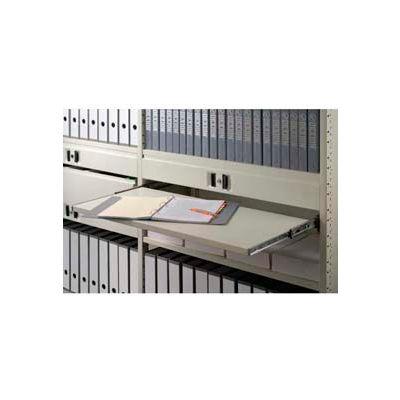 "Clipper ® Sliding Reference Shelf, 36""W X 18""D, Extends 12"", Gray"
