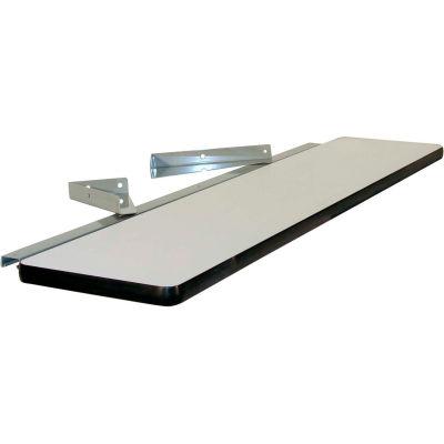 """72""""L X 12""""D Anti-Static Laminate Cantilever Shelf- Gray"""
