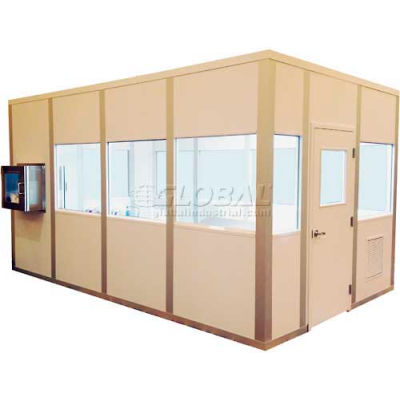 Portafab Modular Cleanroom, 12'L x 12'W, 1 HEPA Unit, 2 Light Fixtures, 4 Outlets, ISO 8, White