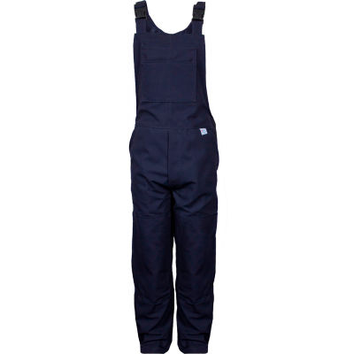 National Safety Apparel® Flame Resistant Unlined Bib Overall, 34 x 32, Navy, BIB6DNV34X32