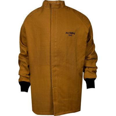 ArcGuard® 100 cal Nomex/Kevlar Arc Flash Coat, L, Caramel, C04KDQE03LG32
