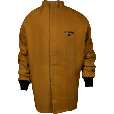ArcGuard® 65 cal Nomex/Kevlar Arc Flash Coat, XL, Caramel, C04KDQT03XLL32