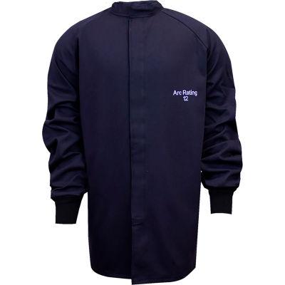ArcGuard® 12 cal UltraSoft Arc Flash Coat, 2XL, Navy, C04UP032XL32