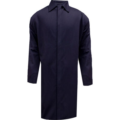 ArcGuard® Flame Resistant Food Processing Lab Coat, XL, Navy, C09UJLCFS