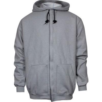 National Safety Apparel® Heavyweight Zip Front FR Sweatshirt, M, Gray, C21IG05MD