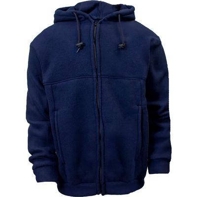 National Safety Apparel® Flame Resistant Deluxe Zip Fleece, L, Navy, C23FL05LG