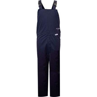ArcGuard® 12 cal Flame Resistant UltraSoft Bib Overall, 2XL, Navy, C45UP2XL32