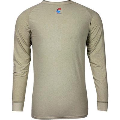 National Safety Apparel® FR Control 2.0 Short Sleeve T-Shirt, M, Khaki, C52JKSRMD