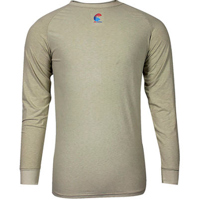National Safety Apparel® FR Control 2.0 Short Sleeve T-Shirt, S, Khaki, C52JKSRSM