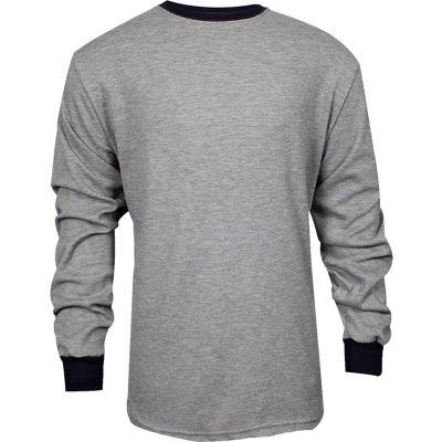 TECGEN CC™ Flame Resistant Long Sleeve T-Shirt, XL, Gray, C541NGELSXL