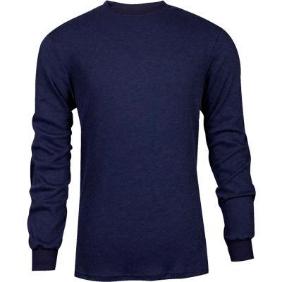 TECGEN CC™ Flame Resistant Long Sleeve T-Shirt, 3XL, Navy, C541NNBLS3XL