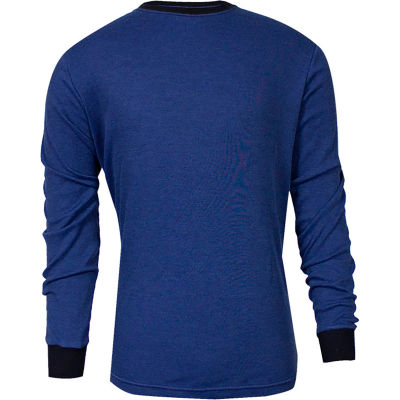 TECGEN CC™ Flame Resistant Long Sleeve T-Shirt, XL, Royal Blue, C541NRBLSXL
