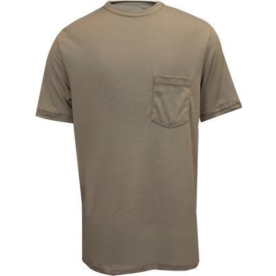 National Safety Apparel® FR Classic Cotton Short Sleeve T-Shirt, L, Khaki, C54PALG