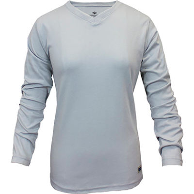 National Safety Apparel® Women's Classic Cotton FR Long Sleeve T-Shirt, S, Gray, C54PGLSWSM
