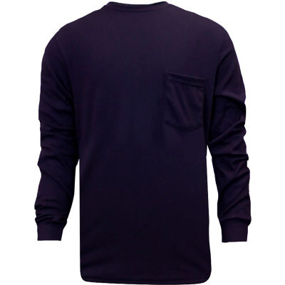 National Safety Apparel® FR Classic Cotton Long Sleeve T-Shirt, XL, Navy, C54PILSXL