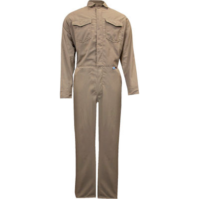 ArcGuard® 8 cal Protera Flame Resistant Coveralls, MD x 32, Tan, C88LIMD32